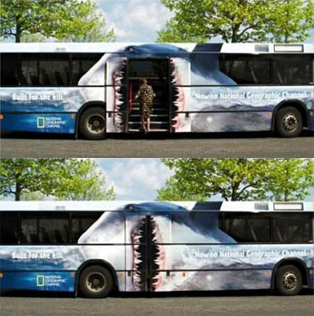 National Geographic Tram Advertising
