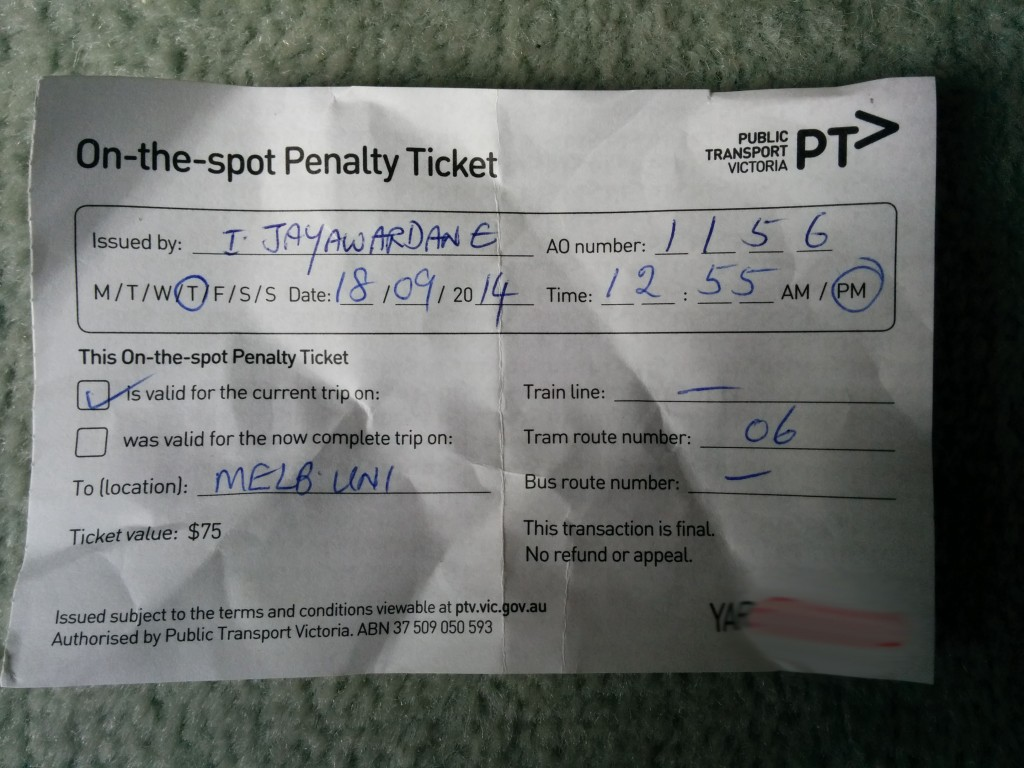 On The Spot Ticket