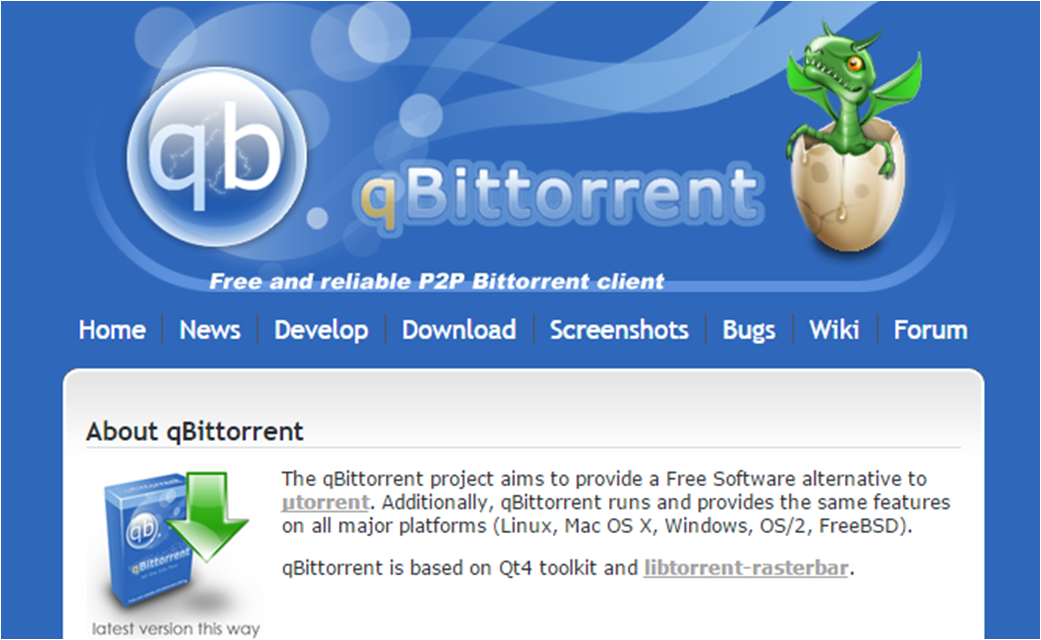 QBittorrent Website