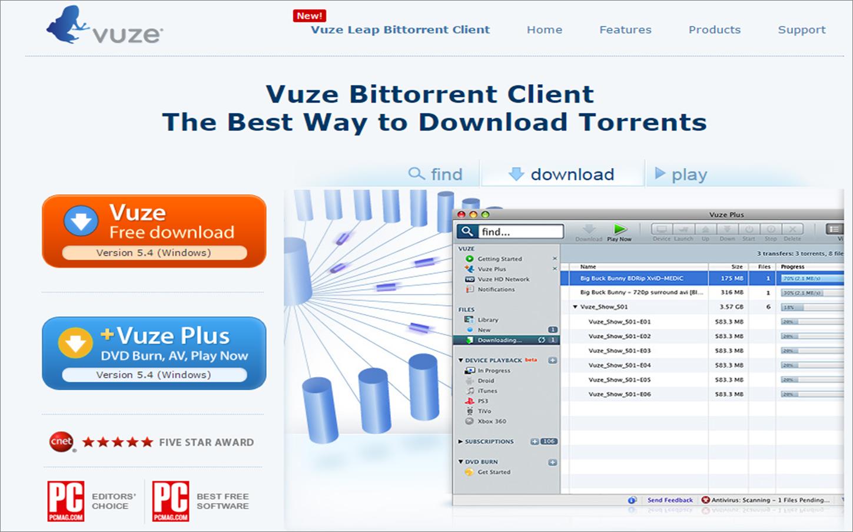 Vuze Website