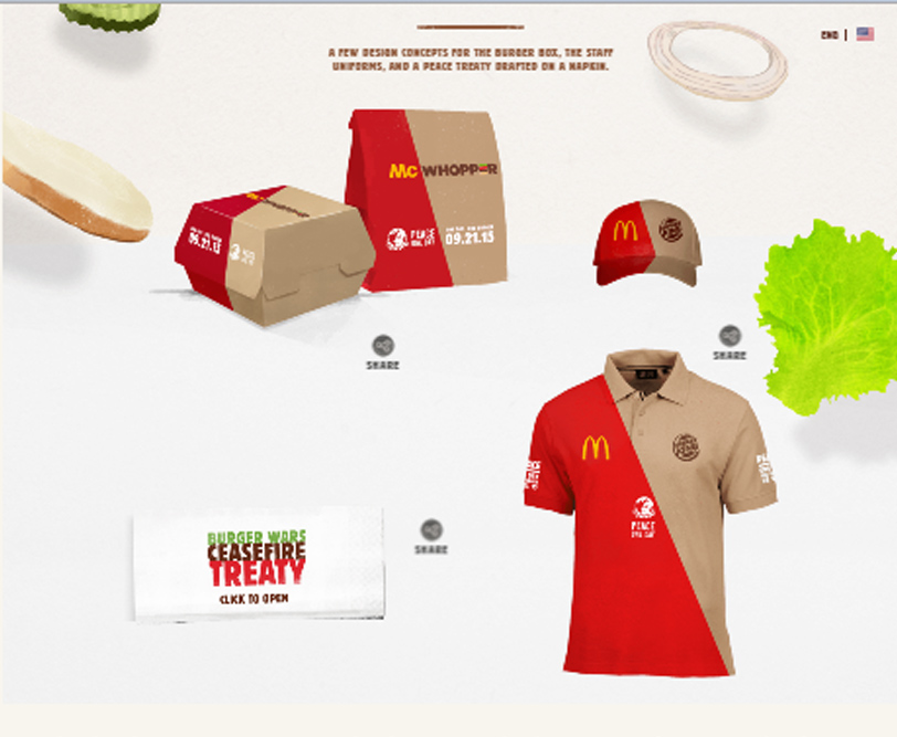 McWhopper Uniform and Packaging