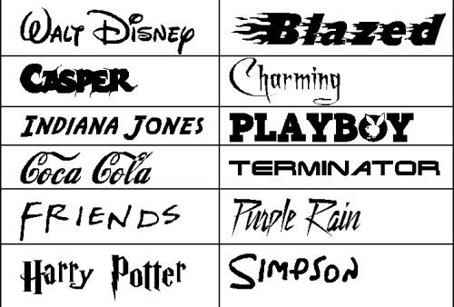 Famous Logos Typography
