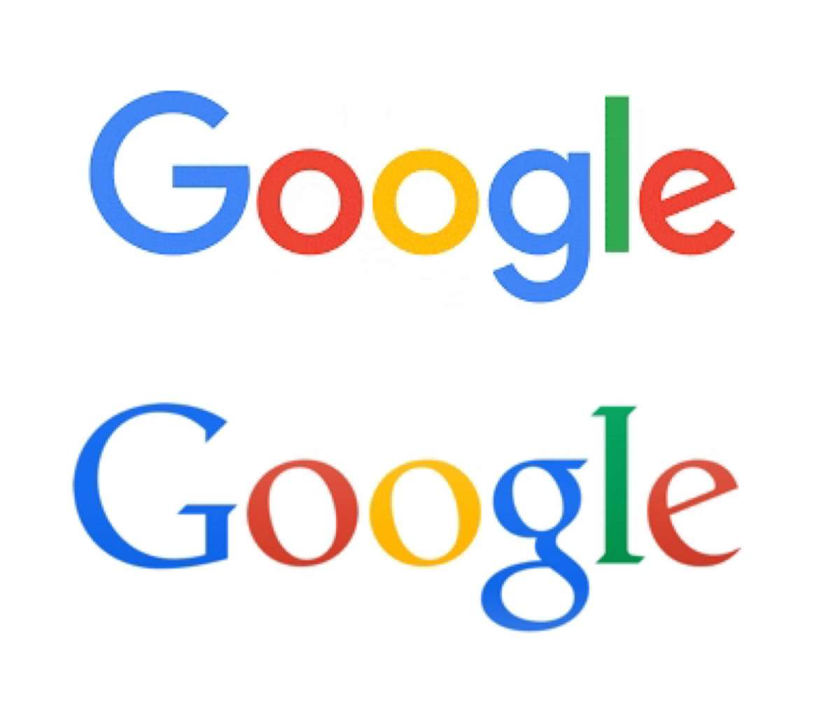 Old New Google Logo Comparison