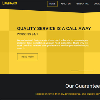 Bill Bayes Electrical Website and Brand